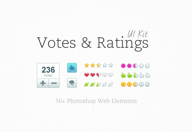 Votes & Ratings UI Kit